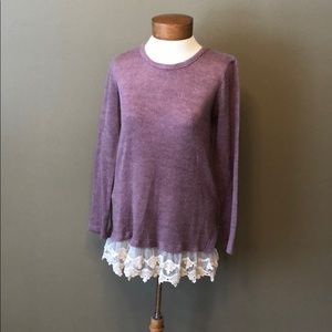 Long purple boutique sweater